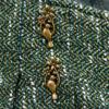 Юбка ассиметрия зелёная в складку