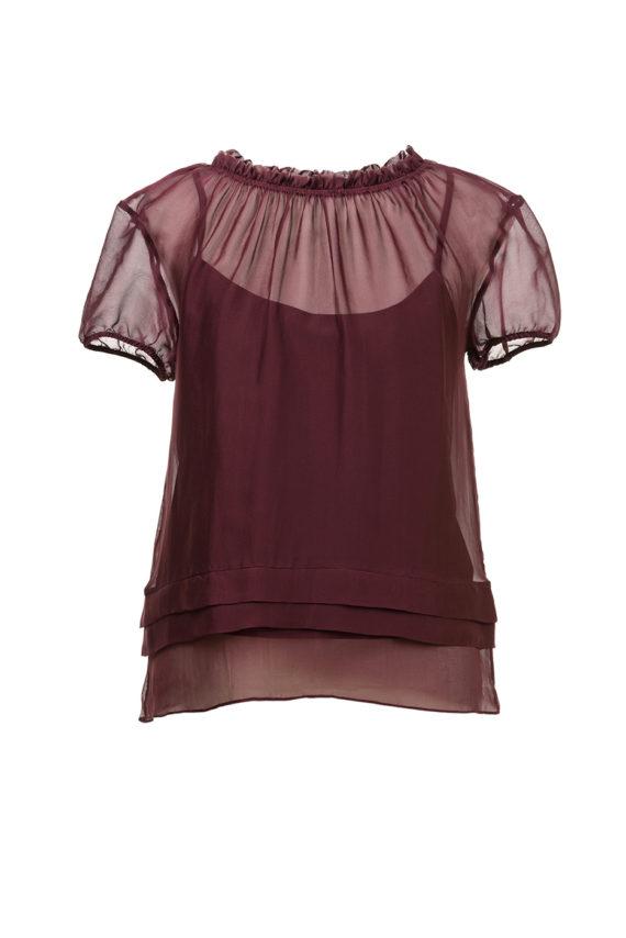 Блузка зафир бордо