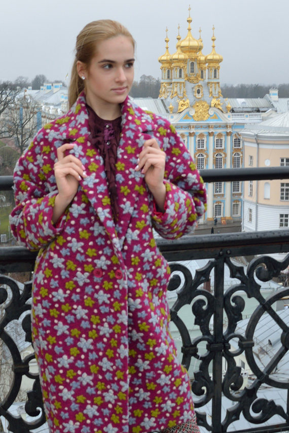 Шерстяное пальто «Яркие звезды»